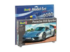 REVELL 67026 Modellbausatz Model Set Porsche 918 Spyder mit Basisfarben 1:24, ab 10 Jahre