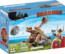 Playmobil 9245 Dragons Grobian mit Katapult