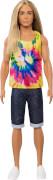 Mattel GHW66 Ken Fashionistas Puppe mit langem blonden Haar