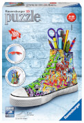 Ravensburger 125357 Puzzle 3D: Sneaker Graffiti Style, 108 Teile
