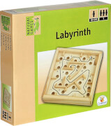 Natural Games Holz Labyrinth 12 x 12 cm