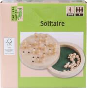 Natural Games Solitaire Holz 12 cm, Geschicklichkeitsspiel, für 1 Spieler, ca. 15,7x15.5x4 cm, ab 5 Jahren.