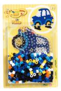 HAMA 8922 Bügelperlen Maxi - Blisterset Auto - 1 Stiftplatte Auto, 250 Perlen
