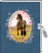 Tagebuch: Mein Tagebuch (mit Schloss) Pferdefreunde