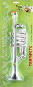 Boogie Bee Trompete silber, 4 Tasten, Länge ca. 38 cm, Kinderinstrument, ab 3 Jahren