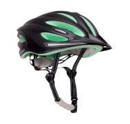 Hudora Fahrradhelm Basalt, Gr. 52-55, schwarz/grün