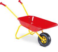 SpielMaus Outdoor Schubkarre-Metall, rot-gelb