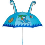 Playshoes Regenschirm Dino, hellblau
