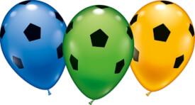 Ballons Fußball 6 Sück, Umfang 90-100cm