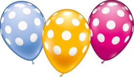Ballons Polka Dots, 6 Stück, Durchm.: 30 cm