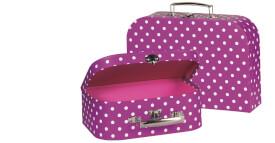 GoKi Koffer lila mit weißen Punkten